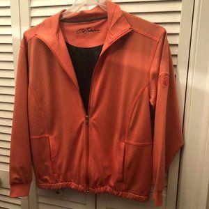 Bob Timberlake women orange cardigan sweater